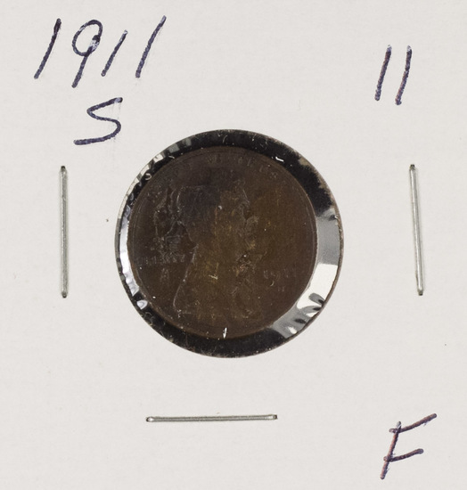 1911-S LINCOLN CENT - F