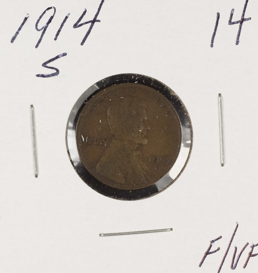 1914-S LINCOLN CENT - F/VF