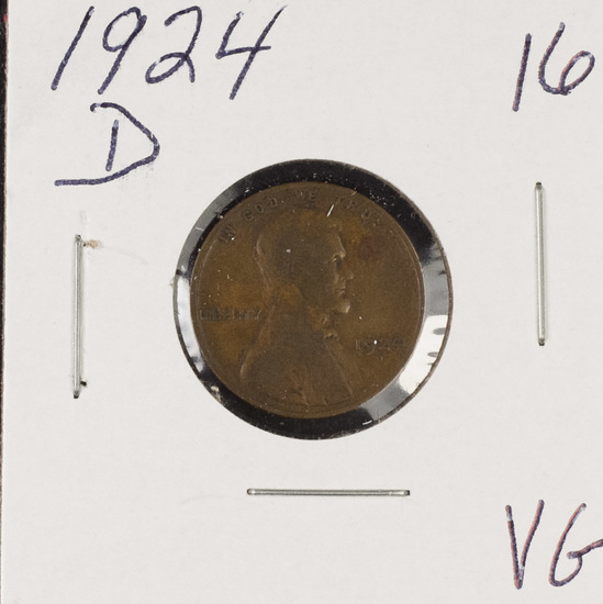 1924-D LINCOLN CENT - VG