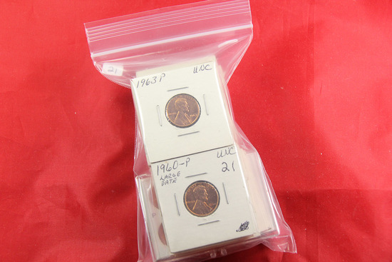 LOT OF 25 - LIBERTY MEMORIAL LINCOLN CENTS - 1960-1974-S RED BU