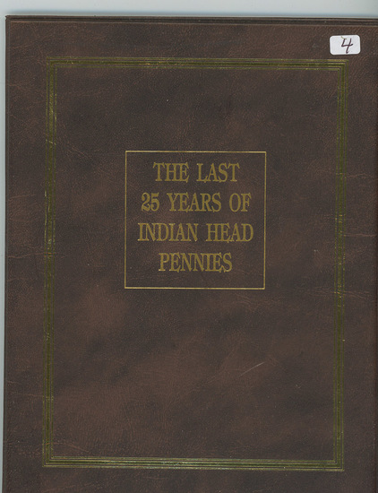 LAST 25 YEARS 1885-1909 INDIAN HEAD CENTS IN ALBUM - 25 COINS