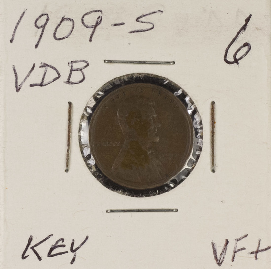 1909-S VDB LINCOLN CENT - VF+ - KEY