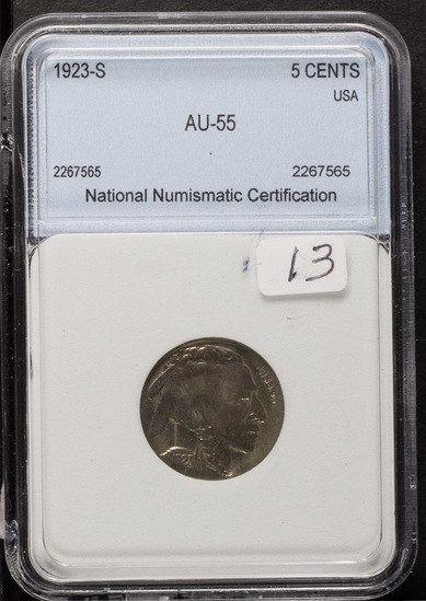 1923-S BUFFALO NICKEL - AU
