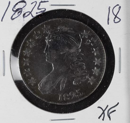 1825 - CAPPED BUST HALF DOLLAR - XF
