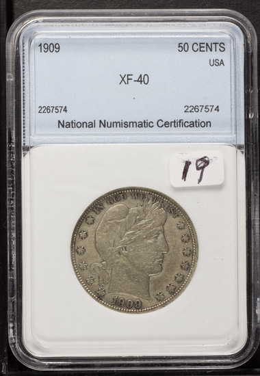 1909 - BARBER HALF DOLLAR - XF