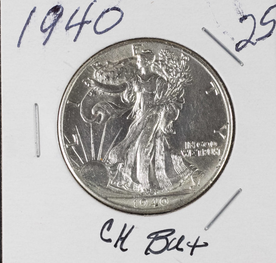 1940 - WALKING LIBERTY HALF DOLLAR - CH BU