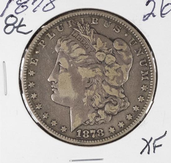 1878 - 8 TAIL FEATHERS MORGAN DOLLAR - XF