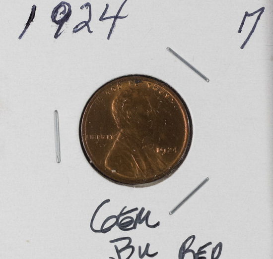 1924 - LINCOLN CENT - RED BU