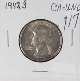 1942-S WASHINGTON QUARTER - UNC