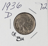 1936 - D BUFFALO NICKEL - BU