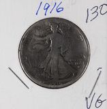 1916 - WALKING LIBERTY HALF DOLLAR - VG