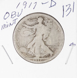 1917-D OBV MINT - WALKING LIBERTY HALF DOLLAR - VG