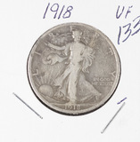 1918 - WALKING LIBERTY HALF DOLLAR - VF