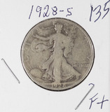 1928-S WALKING LIBERTY HALD DOLLAR - F+
