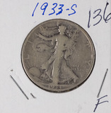 1933-S WALKING LIBERTY HALF DOLLAR - F