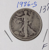 1936-S WALKING LIBERTY HALF DOLLAR - F