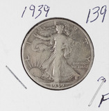 1939 - WALKING LIBERTY HALF DOLLAR - F