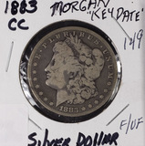 1883-CC MORGAN DOLLAR - F/VF