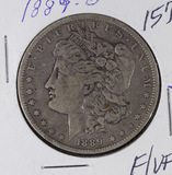 1889-O MORGAN DOLLAR - F/VF