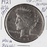 1921 - PEACE DOLLAR - AU - KEY DATE
