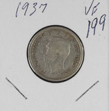 LOT OF 4 CANADIAN QUARTERS - 1937, 1949, 1959, 1960