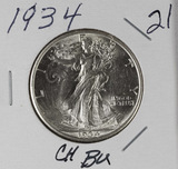 1934 - WALKING LIBERTY HALF DOLLAR - CH BU