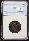 1852 - BRAIDED HAIR LARGE CENT - UNC