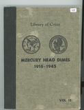 LIBRARY OF COINS - MERCURY DIME ALBUM - NO COINS