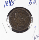 1845 - BRAIDED HAIR LARGE CENT - VF