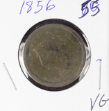 1856 - SLANTED 6 BRAIDED HAIR LARGE CENT - VG