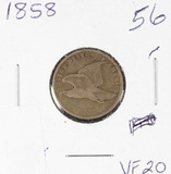 1858 - FLYING EAGLE CENT - VF
