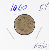 1860 - INDIAN HEAD CENT - AG/G