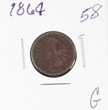 1864 - BR - INDIAN HEAD CENT -G