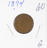 1874 - INDIAN HEAD CENT - G