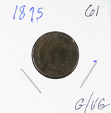 1875 - INDIAN HEAD CENT - C/VG