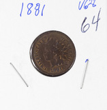 1881 - INDIAN HEAD CENT - VG