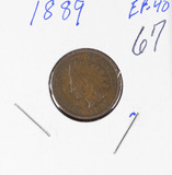 1889 - INDIAN HEAD CENT - XF