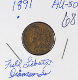 1891 - INDIAN HEAD CENT - AU