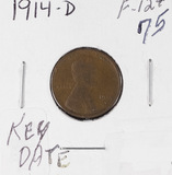 1914-D LINCOLN CENT - F - KEY DATE