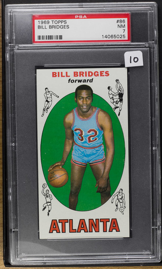 Bill Bridges** 1969 Topps #86 (RC) PSA-NM 7