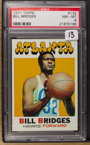 Bill Bridges** 1971 Topps #132 PSA-NM/MT 8