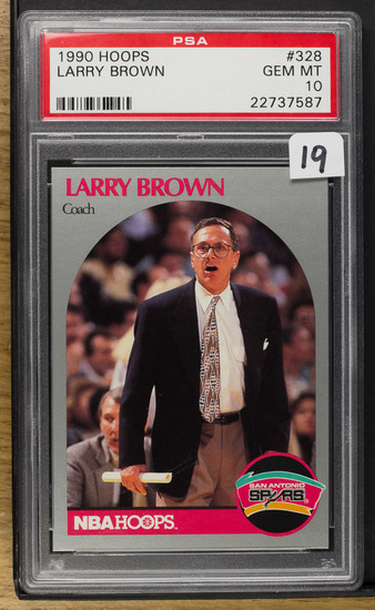 Larry Brown 1990 Hoops #328 PSA-Gem MT 10
