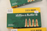 1 Box of 20, Sellier & Bellot 223 Rem 5.56x45