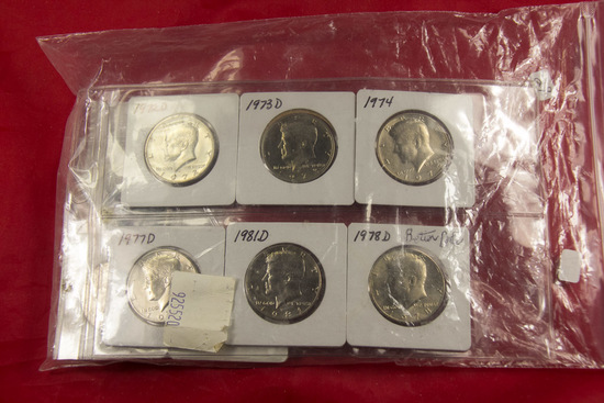 LOT OF 14 UNC KENNEDY HALF DOLLARS