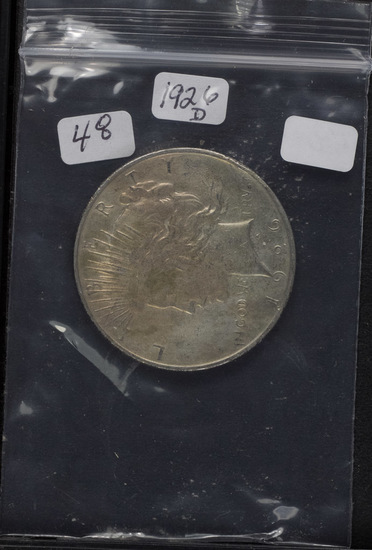 1926-D PEACE DOLLAR - XF/AU