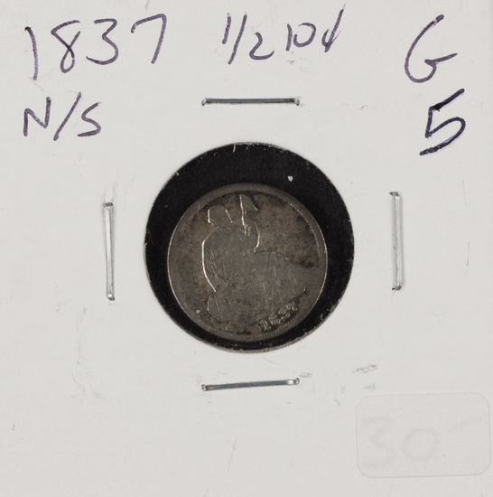 1837 - LIBERTY SEATED HALF DIME - G