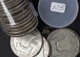 1 - ROLL (20 COINS) 1948,1949, 1950 FRANKLIN HALF DOLLARS