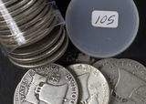 1 - ROLL (20 COINS) 1952 FRANKLIN HALF DOLLARS