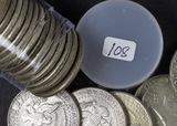 1 - ROLL (20 COINS) MIXED DATESFRANKLIN HALF DOLLARS