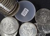 1 - ROLL (20 COINS) KENNEDY HALF DOLLARS